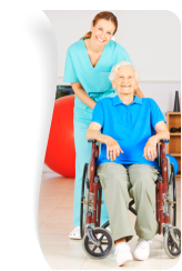 Geriatric nurse with old woman